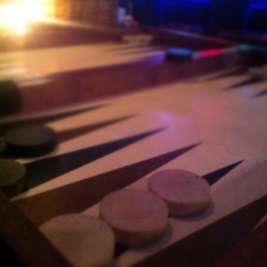 …som Stine og jeg tilbragte i Tønsberg, hvor vi blant annet spilte spill på restaurant.
