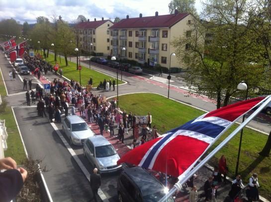 17. mai ble feiret med Lillestrøms beste utsikt.