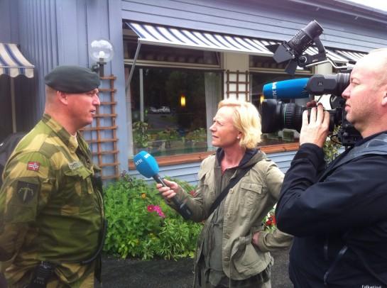 I løpet av sommeren hadde jeg også gleden av å jobbe med sommerleir, som NRK her besøkte.