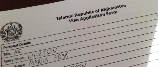 I mars skjedde det tydeligvis ikke stort annet enn at jeg fylte ut en visumsøknad…